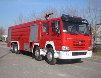 HOWO 4500 gallon fire truck