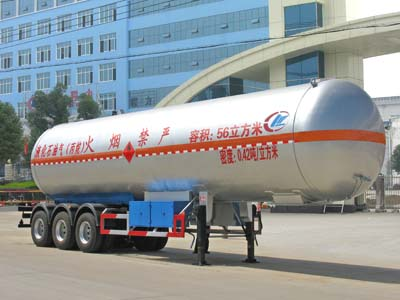3 axles 56cbm LPG tanker semitrailer for