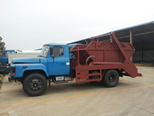 Dongfeng 6cbm swing arm garbage carrier