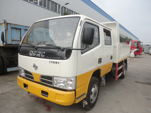 dongfeng twin cab dump truck