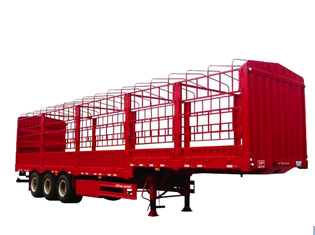 3 axles fence cargo semitrailer